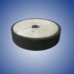 Pulley rubberized with black rubber