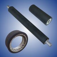 Rollers rubberized with black rubber